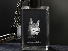 Australian Kelpie,Dog Crystal Keyring,Keychain,High Quality, Crystal Animals Usa
