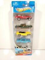 Hot Wheels Chevy 5- Pack 5 Car Set 1/64 Diecast 2010 NIB