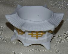 Lladro Chinese Pagoda Tea Light Candle Holder (White), sculptor Francis Cuesta