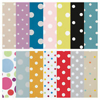 WipeClean Tablecloth Oilcloth Vinyl PVC Dotty Spot Polka Dots 200cm x140cm wide