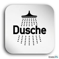 "Aluminium Schild ""Dusche"" 150 x 150 mm • WC • Toilette • Sauna • Toilettenschild"