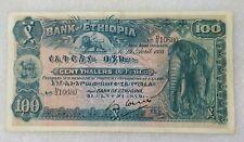 "100 Thalers Ethiopia ""Elephant"" 1933 XF"