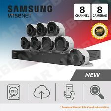 Samsung Wisenet SDH-C84085BF 8 Ch 5 MP 2 TB Super HD System with 8 Cameras