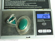 AGATE AVENTURINE SILVER BROOCH 925 STERLING BROOCH & RING SET 24 GRAMS VINTAGE