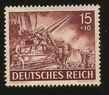 1943 WWII NAZI GERMANY HEAVY ARTILLERY UNIT AT WORK NAZI WAR MINT STAMP
