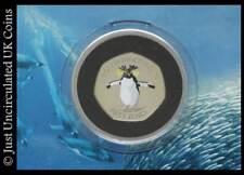 2017 Falkland Islands Northern Rockhopper Penguin 50p Coin + Album + COA