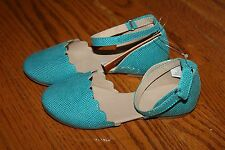 NWT Gymboree Seaside Stroll Size 10 Blue Textured Dress Shoes