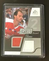 2008-09 SP Game Used Edition Authentic Fabrics Dual Silver #AF-RL Rod Langway