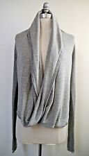 NEW LULULEMON Iconic Wrap Sweater gray stripe size 6 NWOT
