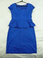 Basque 10 Blue Peplum Corporate Dress