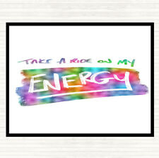 Take A Ride On Energy Rainbow Quote Mouse Mat Pad