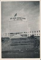 1945 WWII GI's Okinawa Photo Island Cemetery Ie Shima