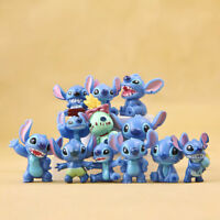12Pcs Disney Studio Lilo&Stitch Mini Figure Toys Kids Cake Toppers PVC Figurines