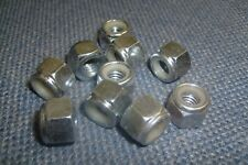 3/8 BSW WHITWORTH Z/P NYLOC LOCK NUTS - QTY (10)