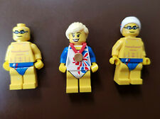 Lego Minifigures Team GB 2012 Olympics Bundle (Gymnast and 2x Stealth Swimmer)