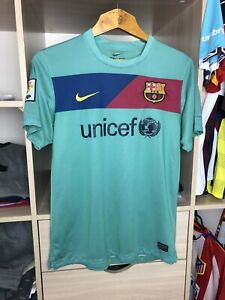 FC BARCELONA 2010 2011 AWAY FOOTBALL SOCCER SHIRT JERSEY NIKE CAMISETA ADULT (M)