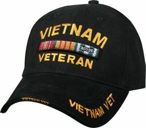 Black Vietnam Veteran Deluxe Low Profile Baseball Hat Cap PREMIUM QUALITY
