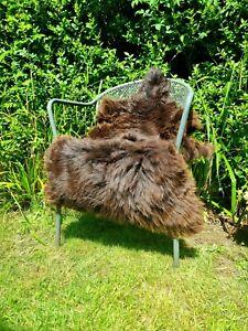 XXL Brown British Jacobs Sheepskin Rug - 110cm by 75cm A+++ (1260)