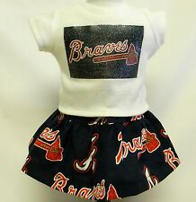 Atlanta Braves Theme Outfit For 18 Inch Doll
