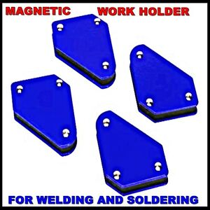 4x Magnetic Work Weld Holder Angle Welding Tools Box Section Sheet Steel gas x 4