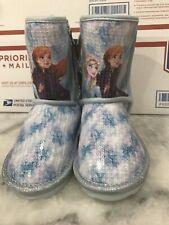 Disney Frozen 2 Toddler Girl Blue Snow Boots Size 9