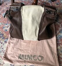 MIMCO Brown Leather Large Handbag With Canvas Detail Great Condition!Negotiable