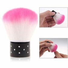 PINK GLITTER DUST POWDER REMOVER TWINKLY JEWELED ROUND CLEANER BRUSH COSMETIC*
