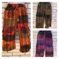 S-3XL Patchwork UNISEX Cotton Shorts Hippy Trouser Yoga Half Pant Festival Nepal