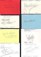 Card Signed by DEREK BRAZIL the MANCHESTER UNITED Footballer