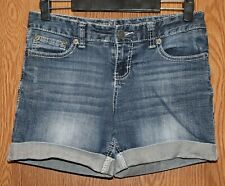 Womens Prefaded Denim Maurices Shorts Size 3 4 very good