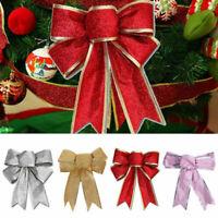 6/12x Große Schleifen Bowknot Weihnachtsbaum Für Weihnachten Holiday Home Dekor