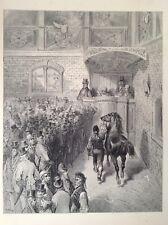 Londres, Raro Original Antigua Gustave Dore de impresión de 1872, una venta en Tattersall's