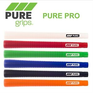 PURE PRO MADE IN USA 60R MIDSIZE GOLF GRIPS BLACK BLUE ORANGE RED NEW