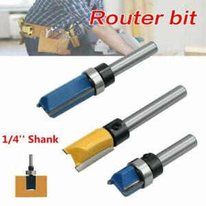3Pc/Set 1/4'' Shank Top Bearing Flush Trim Pattern Router Bit Milling Cutter Set