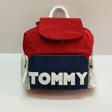 New Womens Tommy Hilfiger Fashion Logo Red Backpack