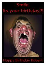 Birthday card, Smile 16th 18th 21st 30th 40th 50th 60th 70th 80th