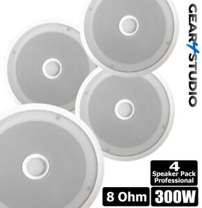 4X 300W Pro Ceiling Speakers Retail/Showroom Surround Sound Hi-Fi Quality 4 Pack