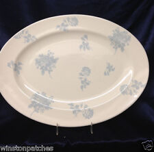 """GUESS HOME COLLECTION STONEWARE 1999 FLOATING ROSE 15 1/4"""" OVAL SERVING PLATTER"""
