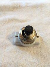 Vintage Rotary Switch, Single-Pole, On Off, Chrome & Porcelain, Perkins, Usa