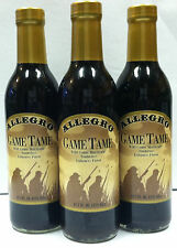 Allegro Tennessee Game Tame Marinade ,Tenderizes 12oz Glass 3 Glass Bottles