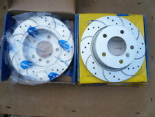 BMW 3 SERIES REAR COATED DRILLED CURVE GROOVED BRAKE DISCS x2 COMLINE ADC1704V
