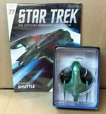 Star Trek Eaglemoss Romulan Shuttle Ship Starship & magazine #77