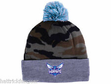 Charlotte Hornets Mitchell & Ness NBA Basketball Team Logo Pom Knit Hat Beanie