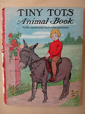 Tiny Tots Animal Book - 1924 Color Vintage Hardcover - Donohue