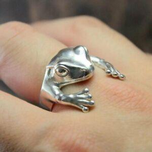 Fashion Cute Frog Animal Finger Ring Adjustable Knuckle Women Men Jewelry
