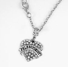 Phlebotomist Necklace Gift chain Phlebotomy Present Pendent Medical tech Jewelry