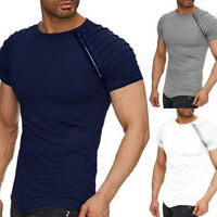 Men's Short Sleeve Muscle Shirt T Shirts Hip Hop Slim Fit Tee slim fit Tops