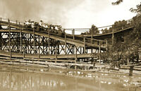 "1908 Scenic Railway, Cincinnati, Ohio Old Photo 11"" x 17"""