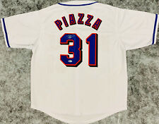 New York Mike Piazza Signed Jersey - Beckett BAS COA Autographed