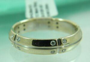 Tiffany&Co Streamerica Band Ring 18K White Gold & Diamond SZ 9.75 Men's
